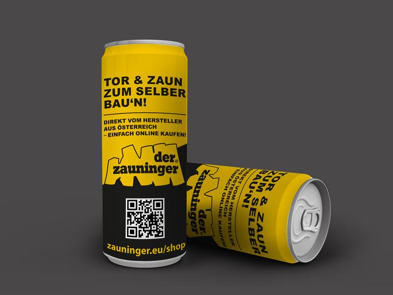 Getränkedosen mit Firmenlogo - Zauninger | ident-IT Graz